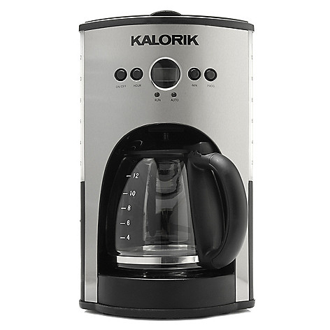 440-761 - Kalorik 900W 12-Cup Programmable Coffee Maker