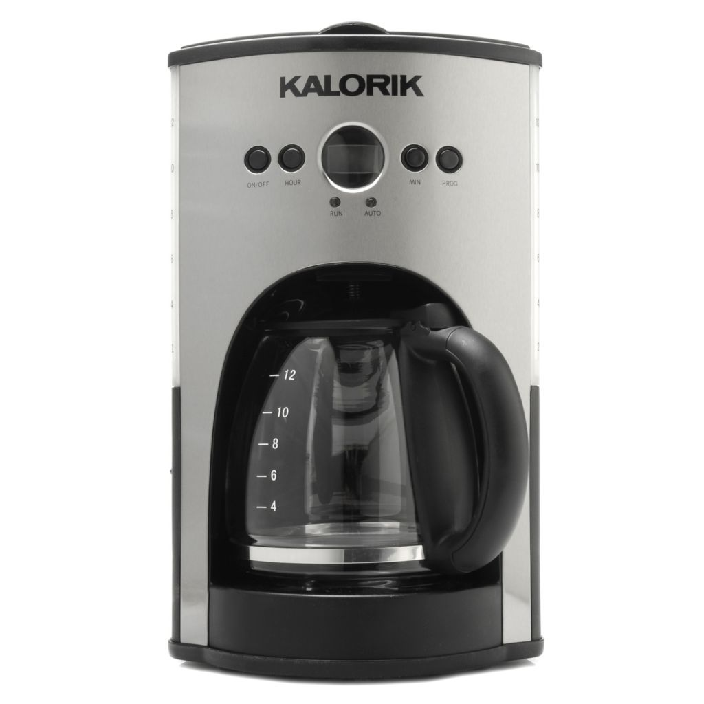 440-761 - Kalorik® 900W 12-Cup Programmable Coffee Maker