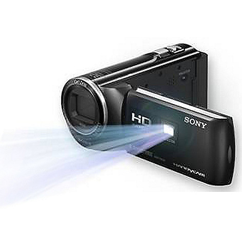 440-858 - Sony® 8.9MP 1080p 27x Optical Zoom 1080p HD Handycam® w/ Built-in Projector and Software