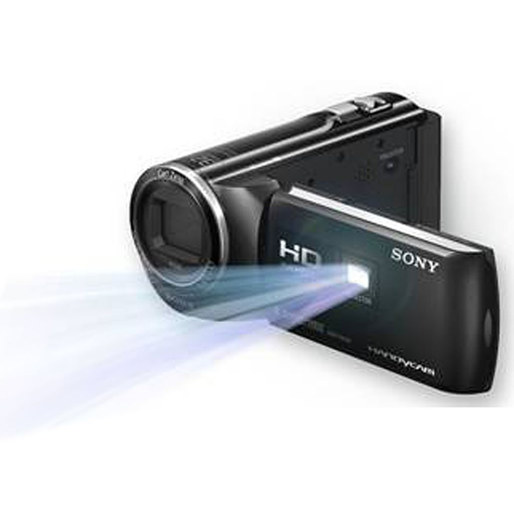440-858 - Sony 8.9MP 1080p 27x Optical Zoom 1080p HD Handycam® w/ Built-in Projector and Software