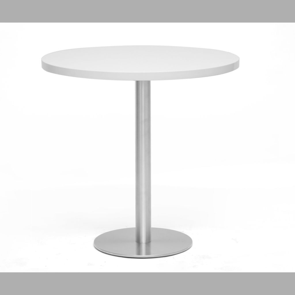 440-869 - Baxton Studio Monaco Large Round White Modern Bistro Table