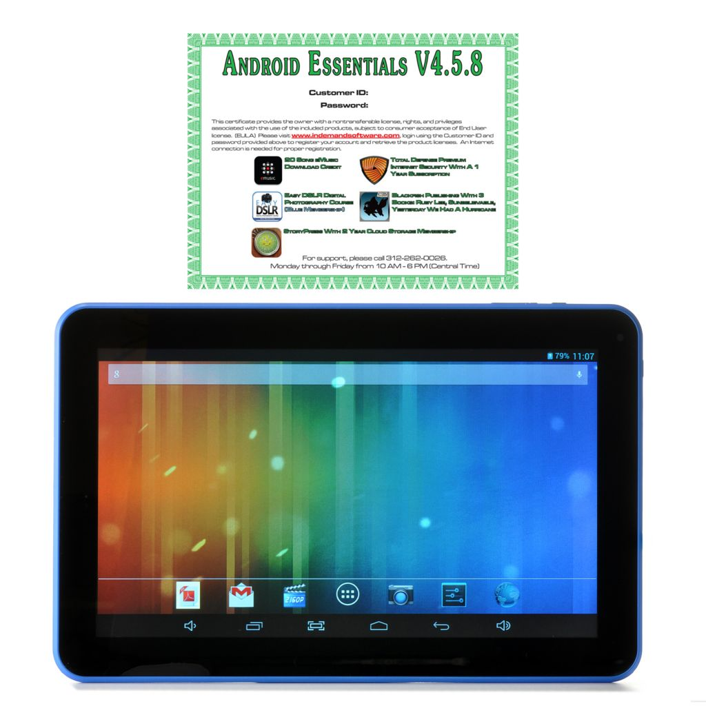-876 - TravelTek 10.1'' LCD Dual-Core Android™ 4.2 4GB Wi-Fi Tablet