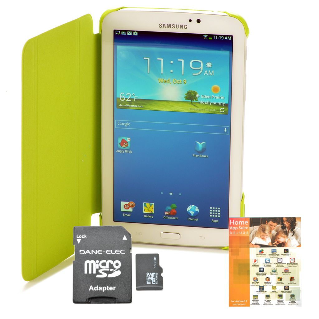 "440-885 - Samsung 7"" Galaxy Tab 3 Google Certified 8GB Tablet w/ Accessories Kit"