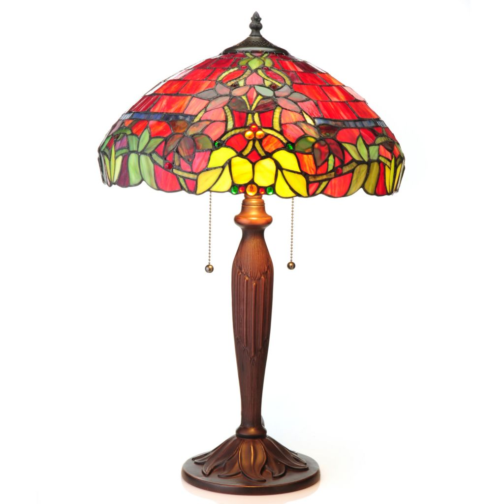 440-890 - Tiffany-Style Hampstead Choice of Stained Glass Sconce, Pedestal or Table Lamp