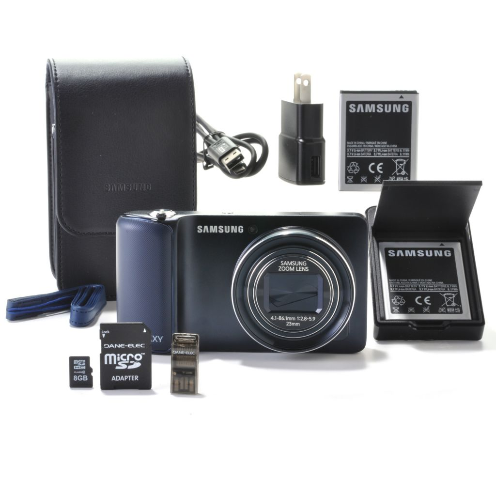 440-898 - Samsung Galaxy 16MP 21X Optical Zoom Android 4.1 Smart Wi-fi Camera w/ Accessories