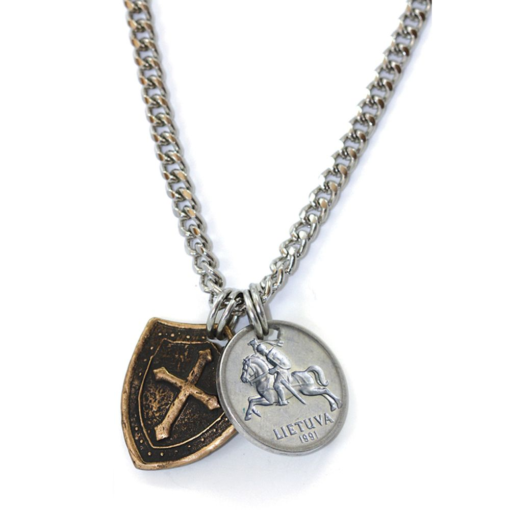 440-937 - Horse and Shield Men's Necklace