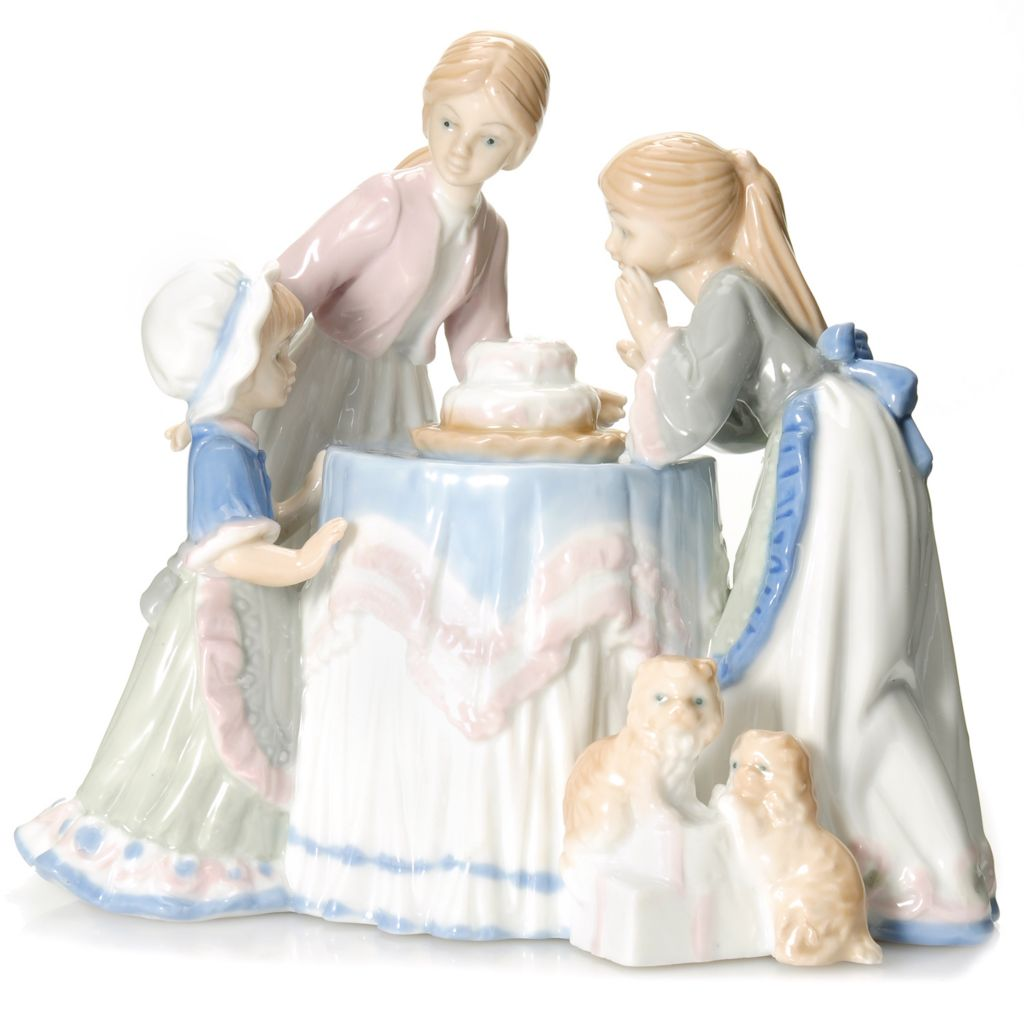 "440-941 - Sorelle® ""Make a Wish Birthday Cake"" Limited Edition 7.5"" Porcelain Figurine"