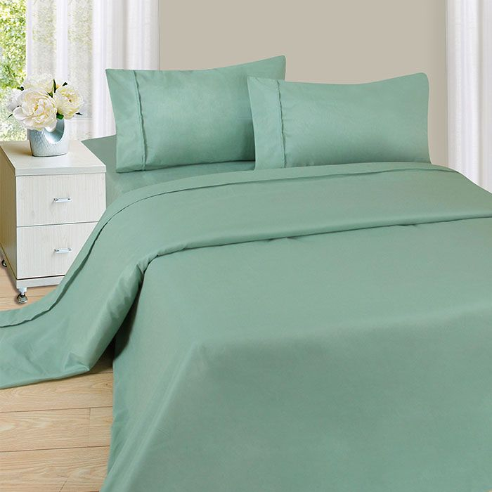 440-960 - Lavish Home Solid Print Four-Piece Sheet Set