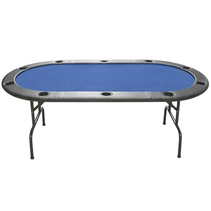 440-997 - Texas Hold'em Full Size Blue Felt Poker Table