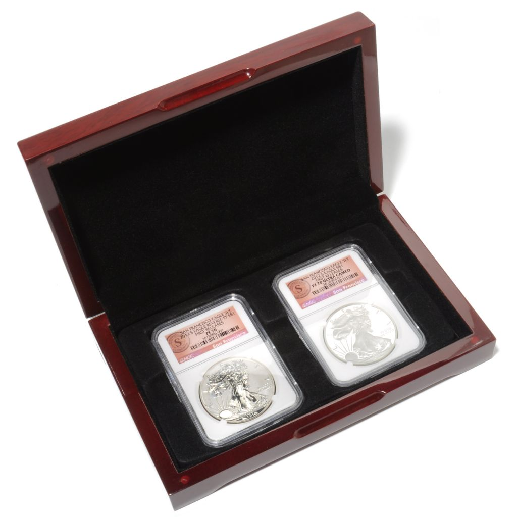 441-003 - 2012 $1 Silver Eagle 75th Anniversary NGC (S) Two-Piece Coin Set