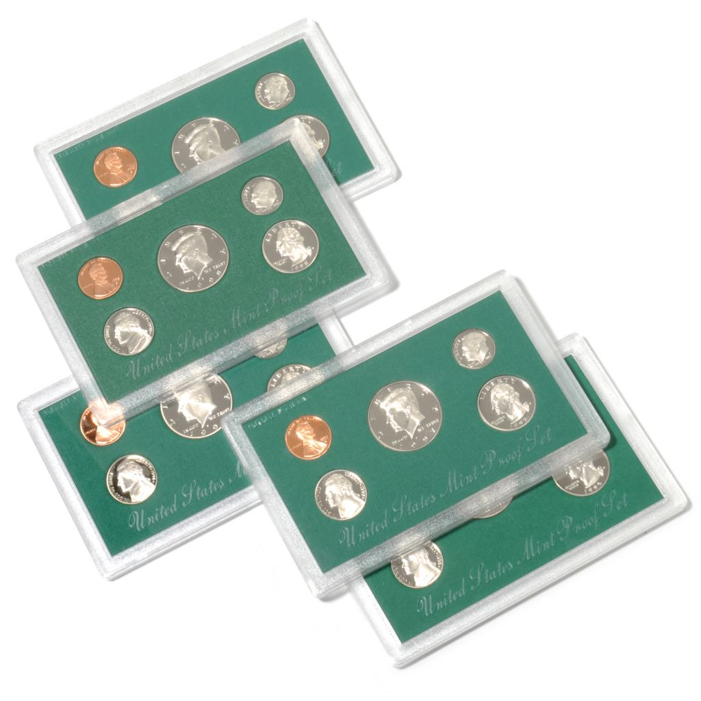 441-009 - 1994-1998 Silver & Copper Proof (S) Five-Piece Coin Set