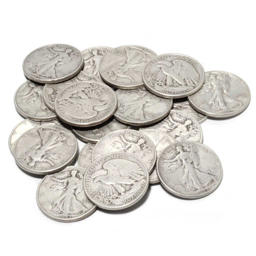 441-012 - 1940-1947 Fine Silver Walking Liberty 20-Piece Coin Set
