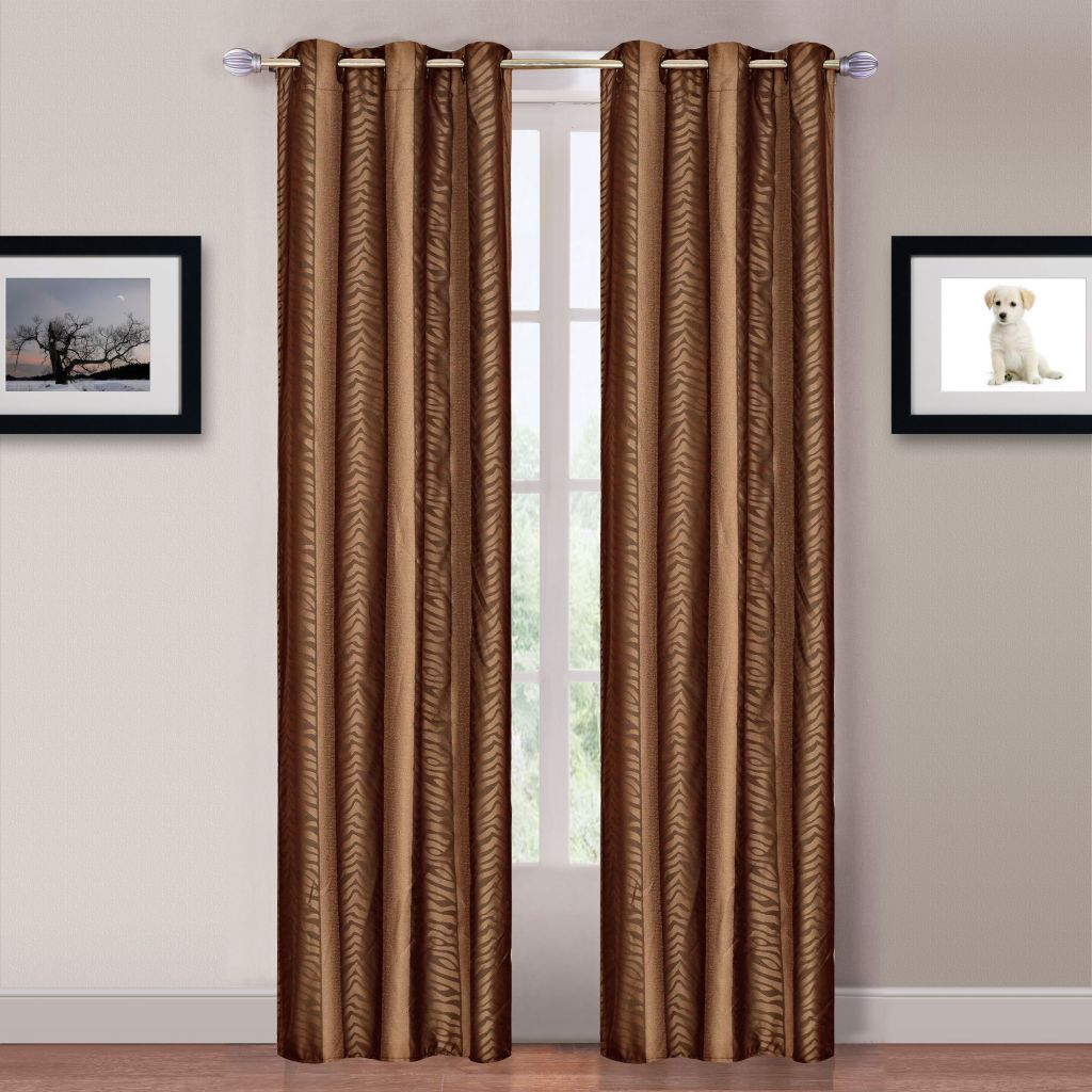 441-015 - Lavish Home Curtain Panels w/ Grommets - Set of Two
