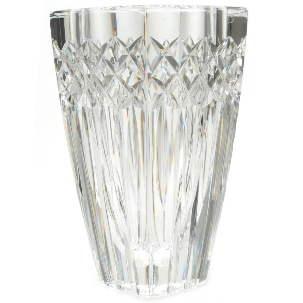 "441-044 - House of Waterford® Wallis 7"" Crystal Vase - Signed by Tom Brennan"