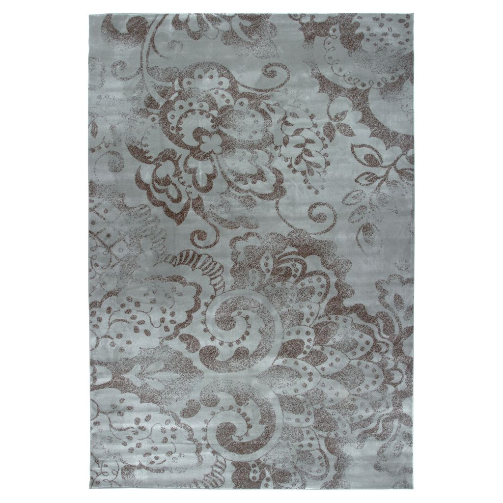"441-050 - Lavish Home 60"" x 87"" Blue Mosaic Area Rug"