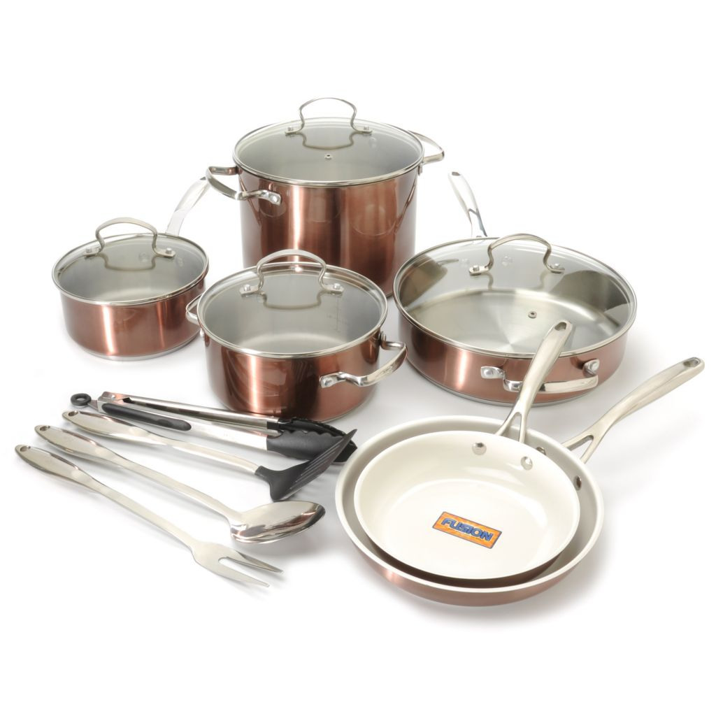441-058 - Kevin Dundon Stainless Steel Cookware Set w/ Four-Piece Tool Set