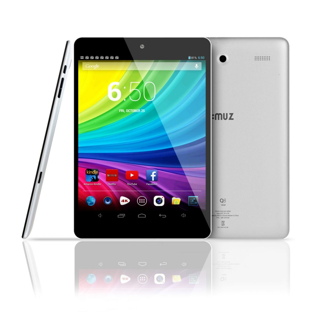 "441-061 - iMuz 7.85"" IPS LCD Android® 4.2 1.0GHz Quad Core 1GB RAM 16GB Storage Dual Camera Wi-Fi Tablet"