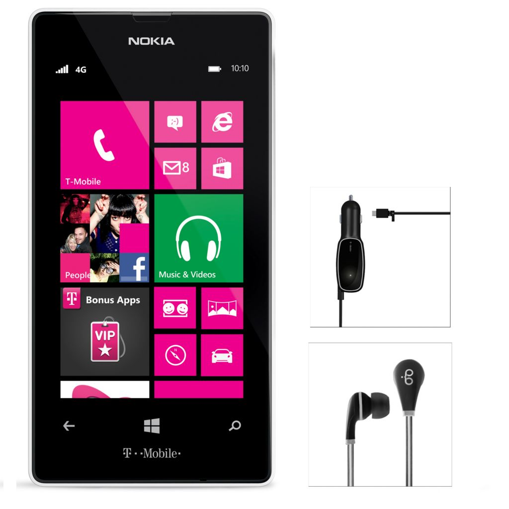441-067 - Nokia Lumia 521 4G Smartphone w/ Accessories & T-Mobile No Annual Service Contract