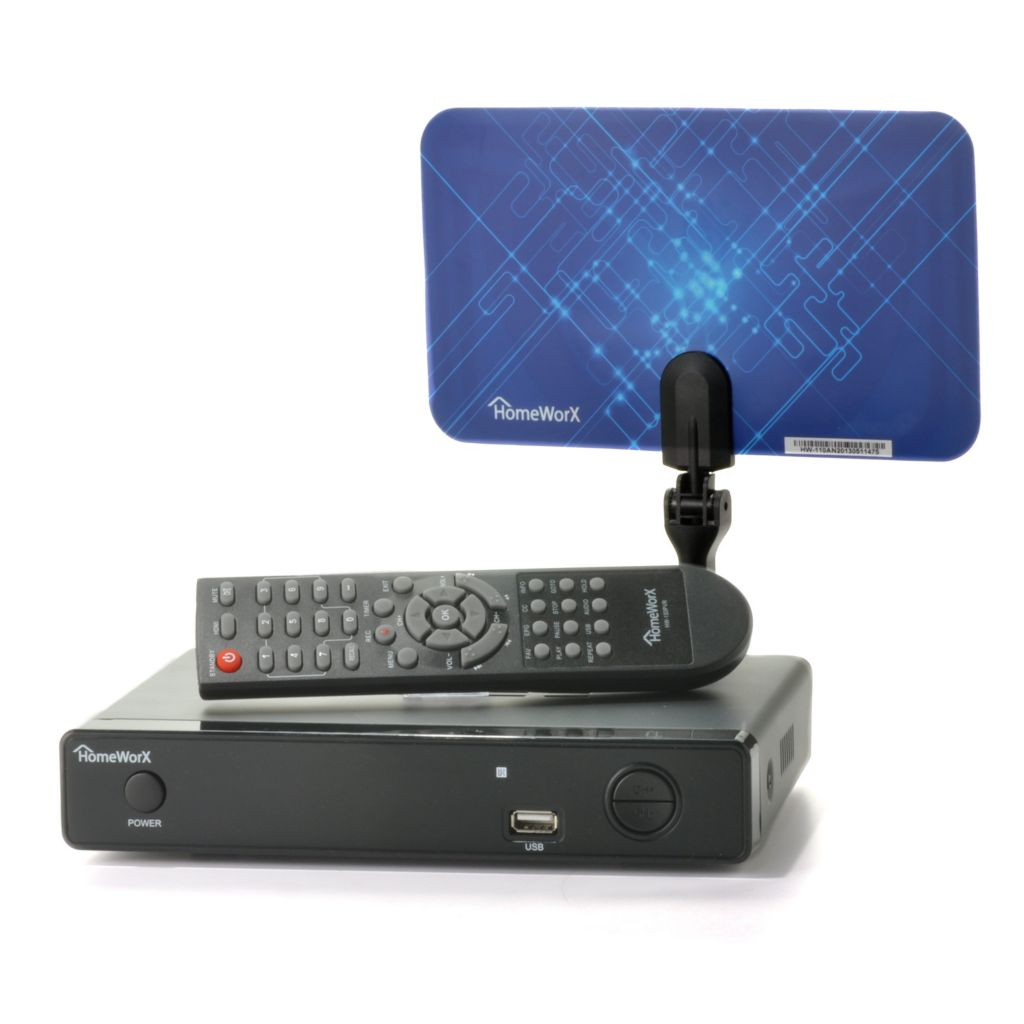 441-070 - HomeWorX Digital Converter Box w/ Flat Antenna & Built-in Tuner