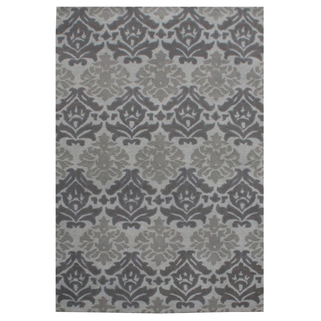 441-073 - Global Rug Gallery Damask Elegance Hand-Tufted Wool & Viscose Rug