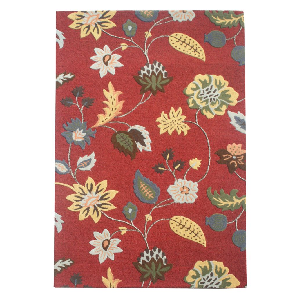 441-075 - Global Rug Gallery Hi-Low Garden Floral Hand-Tufted 100% Wool Rug