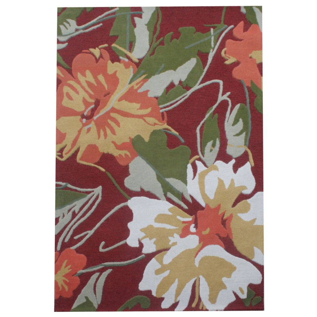 441-076 - Global Rug Gallery Hi-Low Floral Impressions Hand-Tufted 100% Wool Rug