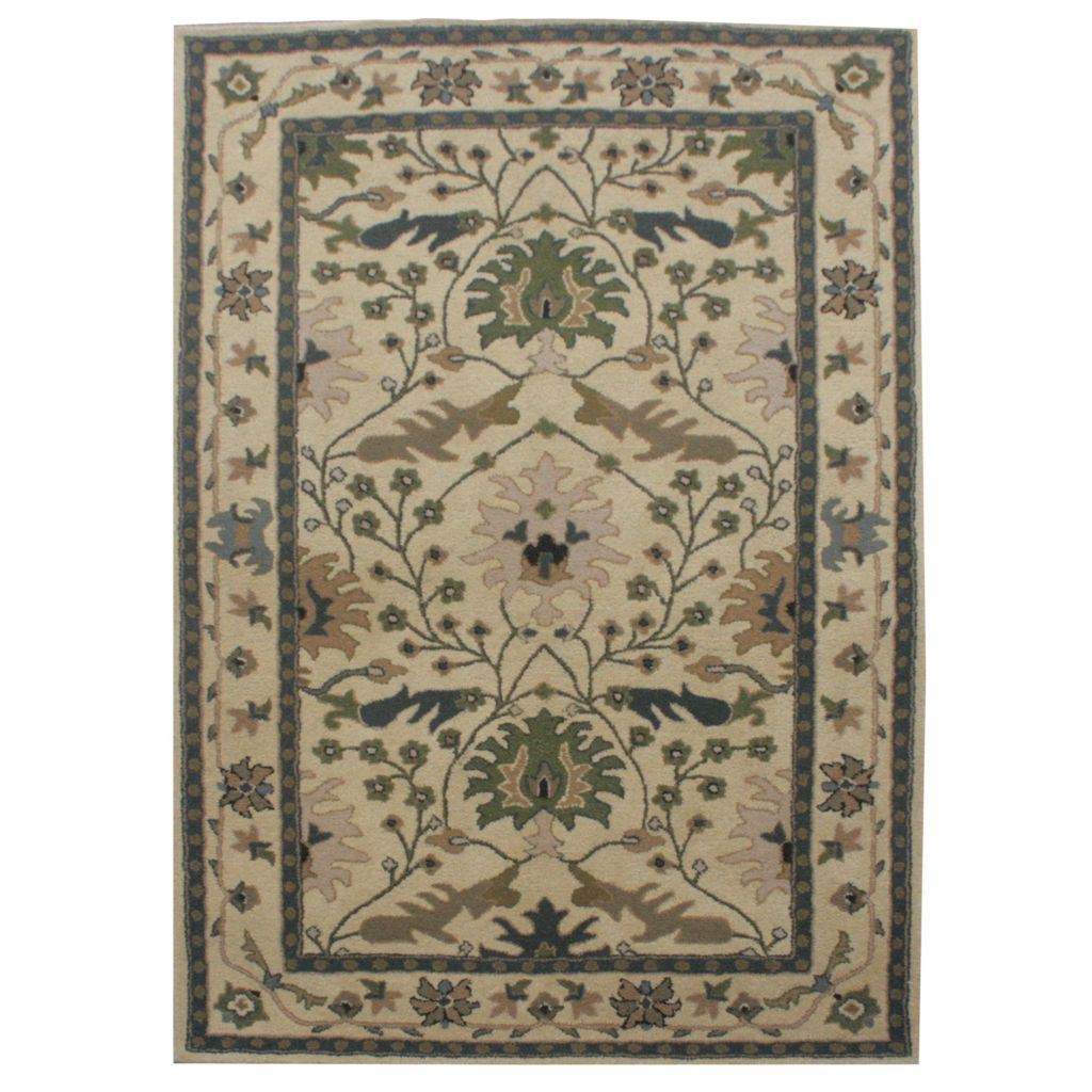 441-077 - Global Rug Gallery Persian Classic Punjab Hand-Tufted 100% Wool Rug