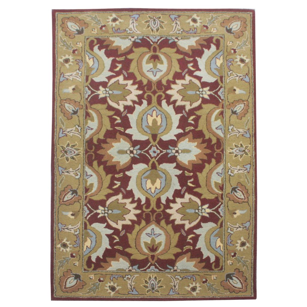 441-078 - Global Rug Gallery Persian Classic Minar Hand-Tufted 100% Wool Rug