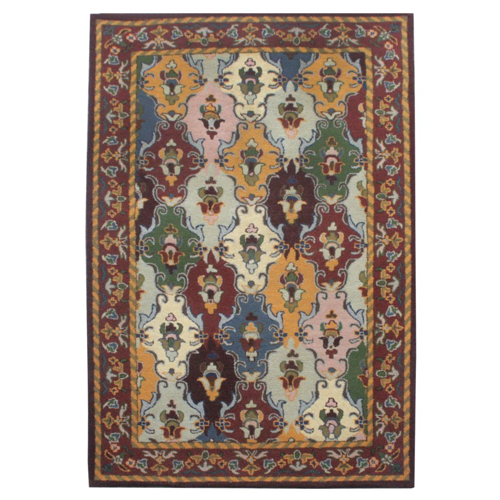 441-079 - Global Rug Gallery Persian Classic Panel Hand-Tufted 100% Wool Rug