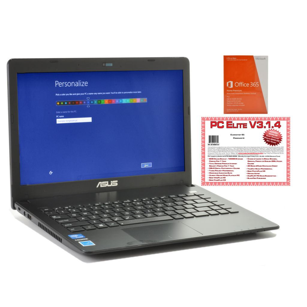 "441-106 - ASUS 14"" HD LED 1.8GHz Dual-Core 4GB RAM/320GB HDD Wi-Fi Notebook w/ Software"