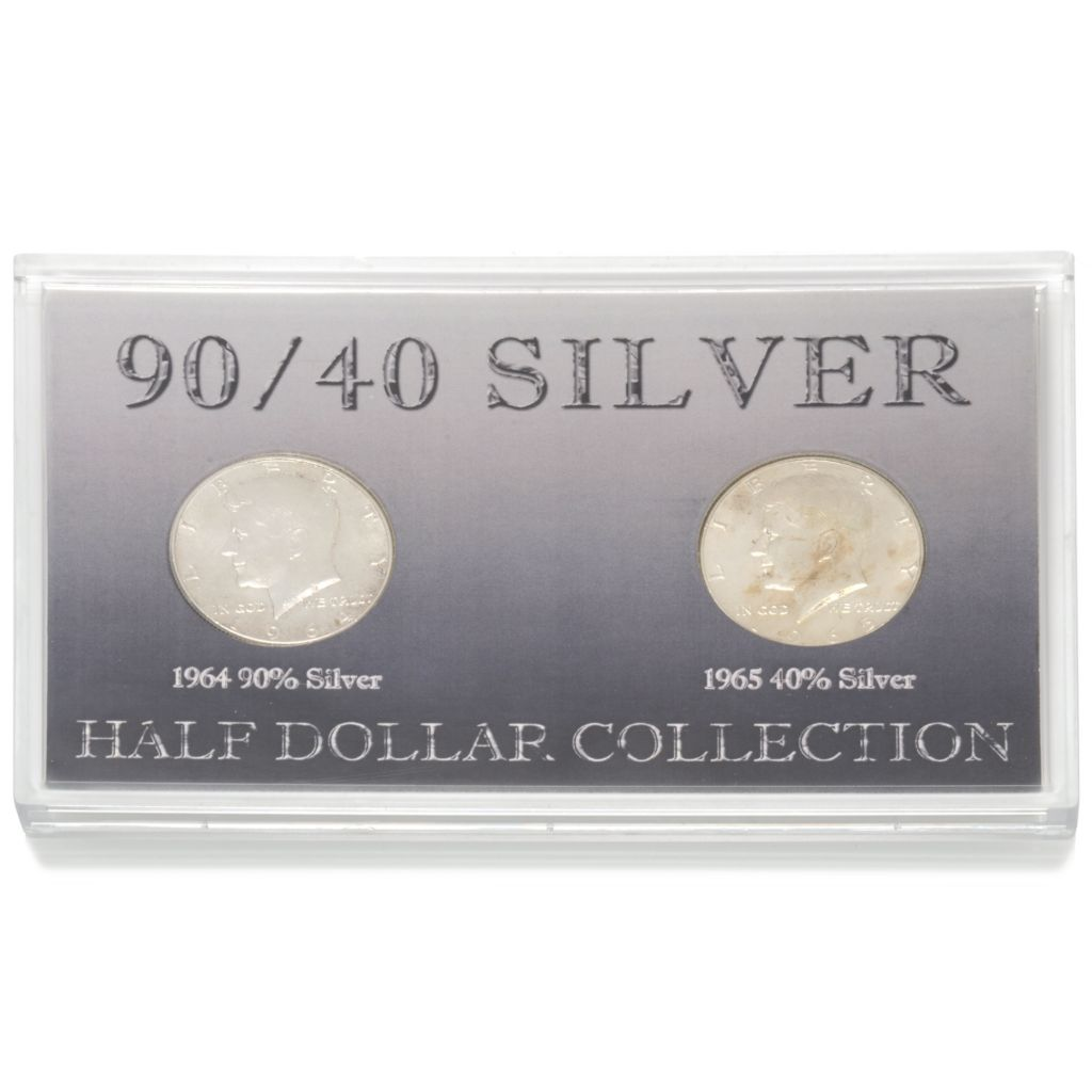 441-117 - 1964 & 1965 Silver JFK 90/40 Circulated Two-Piece Coin Set