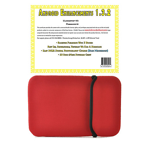 441-126 - 10'' Neoprene Sleeve & Android™ Enhancements Software Certificate