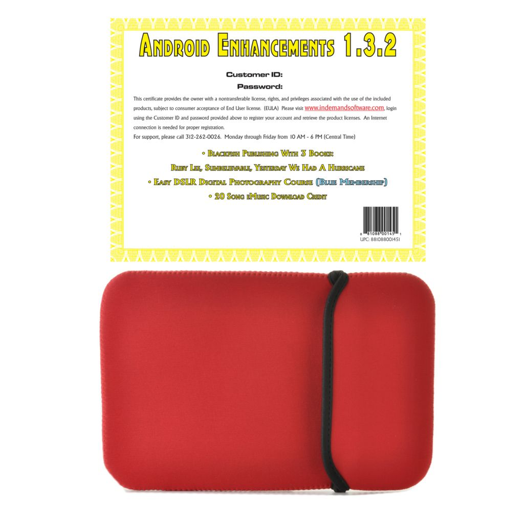 "441-126 - 10"" Neoprene Sleeve & Android™ Enhancements Software Certificate"