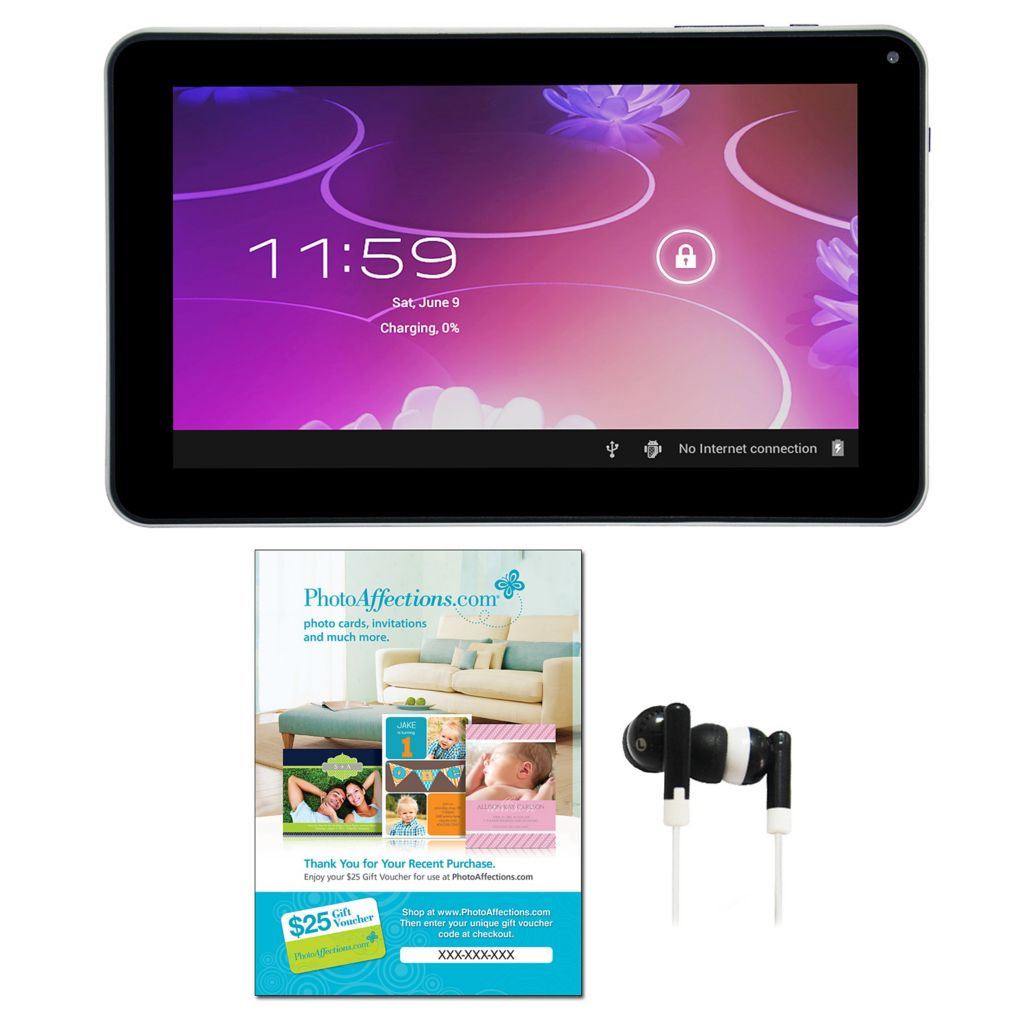 "441-130 - iView 9"" Android™ 4.0 8GB Dual Camera Super Slim Tablet w/ Earphones & Voucher"