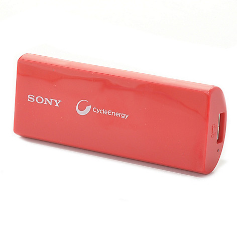 441-143 - Sony® 2800mAh Lithium-Polymer Portable Charger w/ USB Cable & Internet Security