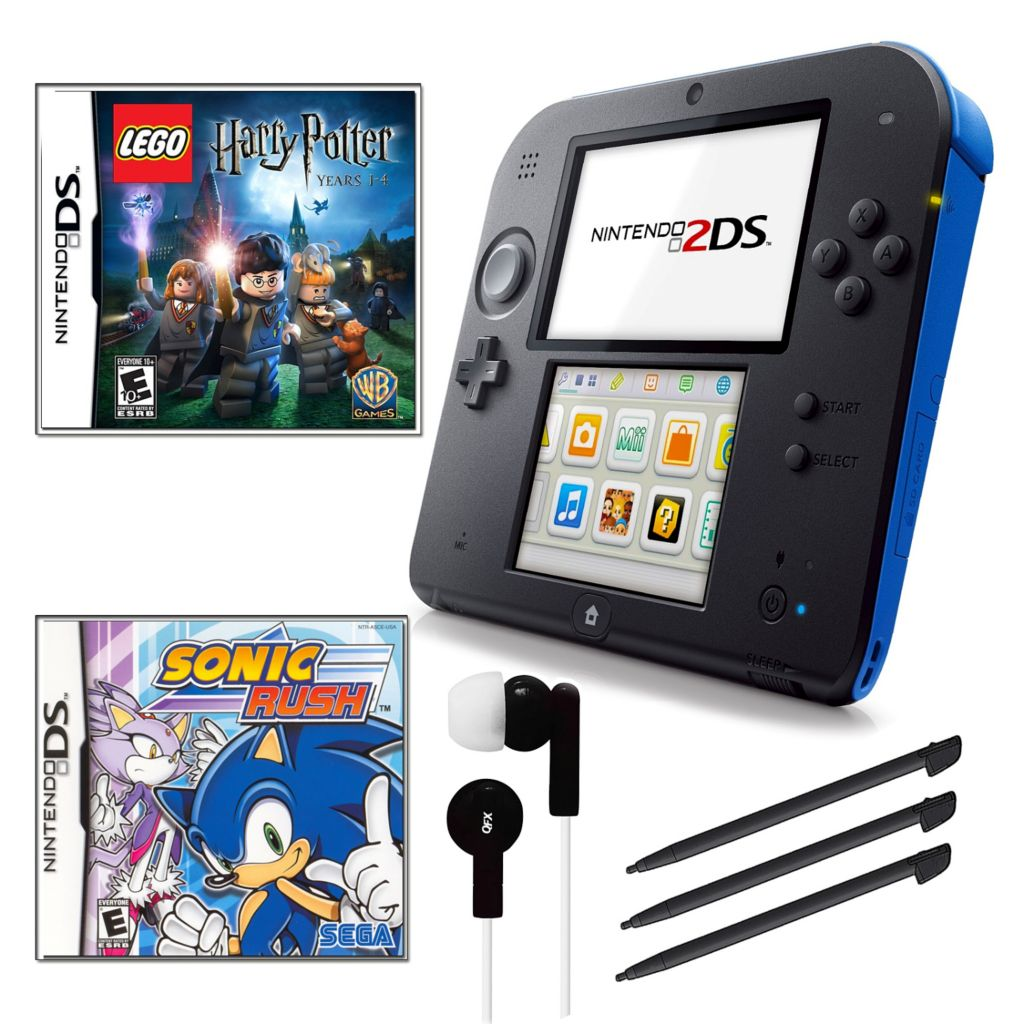 441-150 - Nintendo 2DS Portable Gaming System Bundle w/ Two Games & Accessories