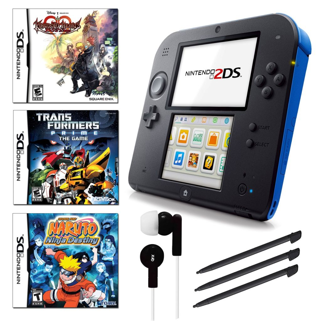 441-151 - Nintendo 2DS Portable Gaming System Bundle w/ Three Games & Accessories
