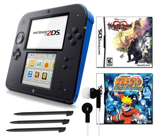 441-152 - Nintendo 2DS Portable Gaming System Bundle w/ Two Games & Accessories