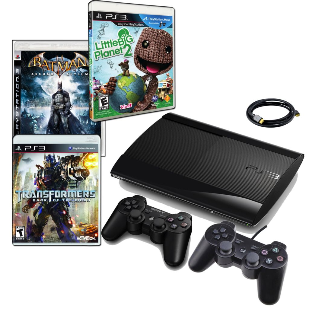 441-167 - Playstation 3 500GB Gaming Console Bundle w/ Little Big Planet, Transformers & Batman Games