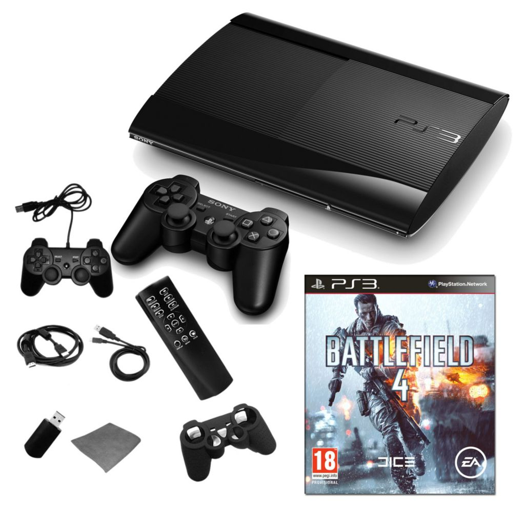 441-184 - Playstation 3 500GB Gaming Console w/ Battlefield 4 Game & Accessories