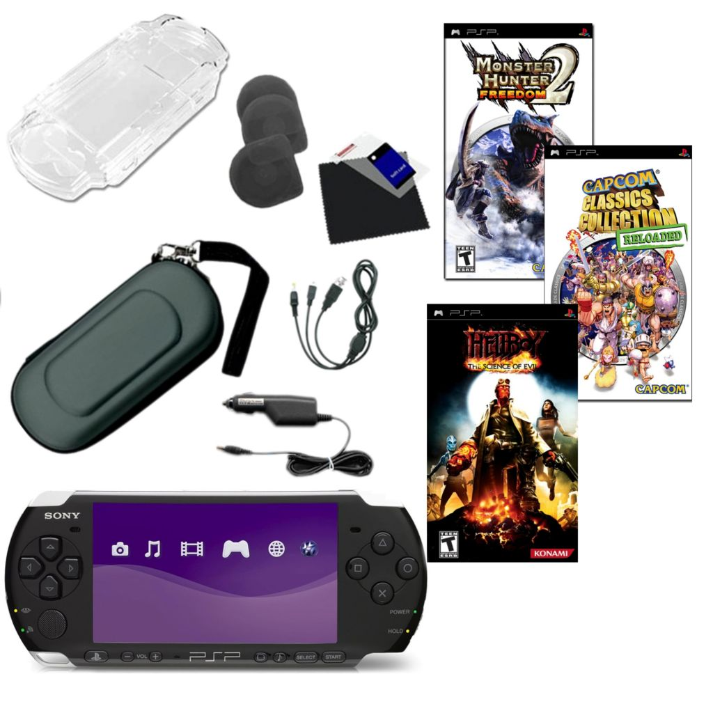 441-185 - Sony® PSP® 3K Portable Gaming System Bundle w/ Three Games & Accessories
