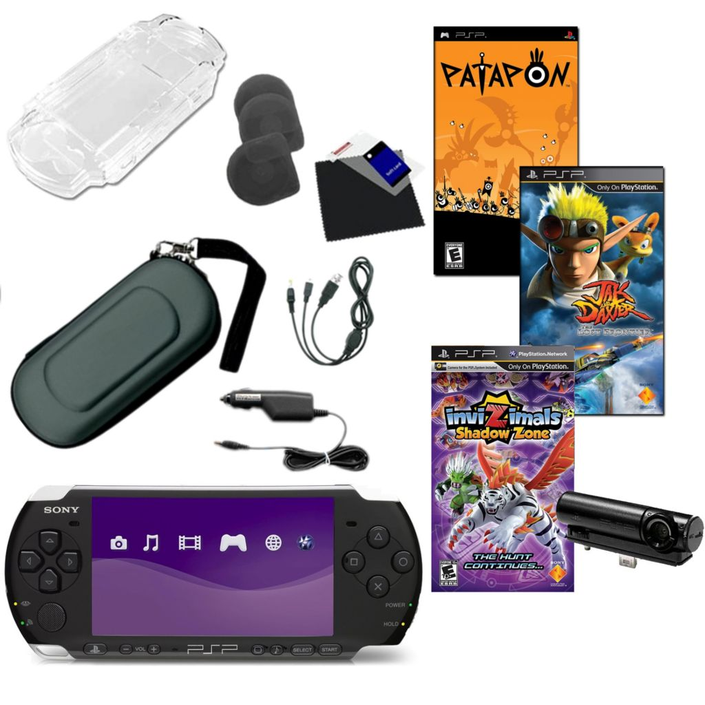 441-186 - Sony® PSP® 3K Portable Gaming System Bundle w/ Three Games, Camera & Accessories