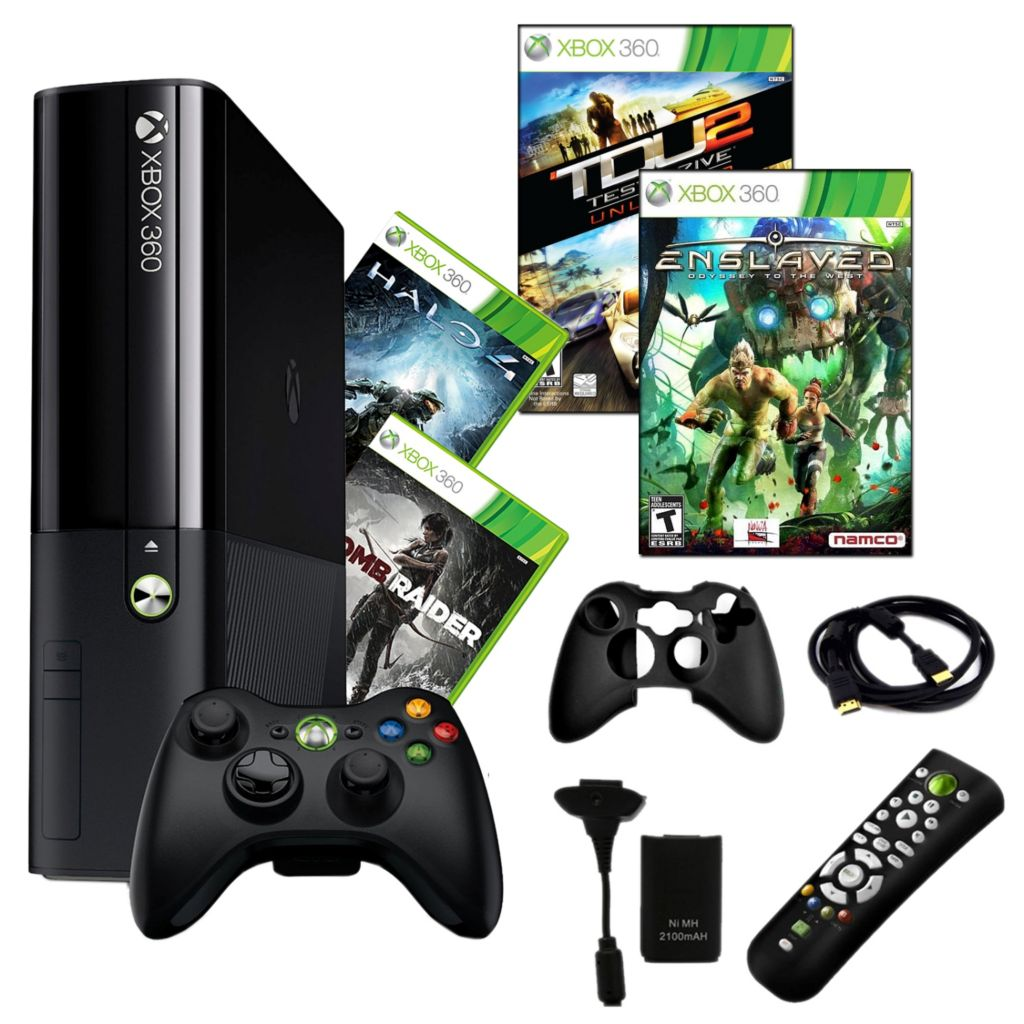 441-187 - Xbox 360 E 250GB Bundle w/ Four Games