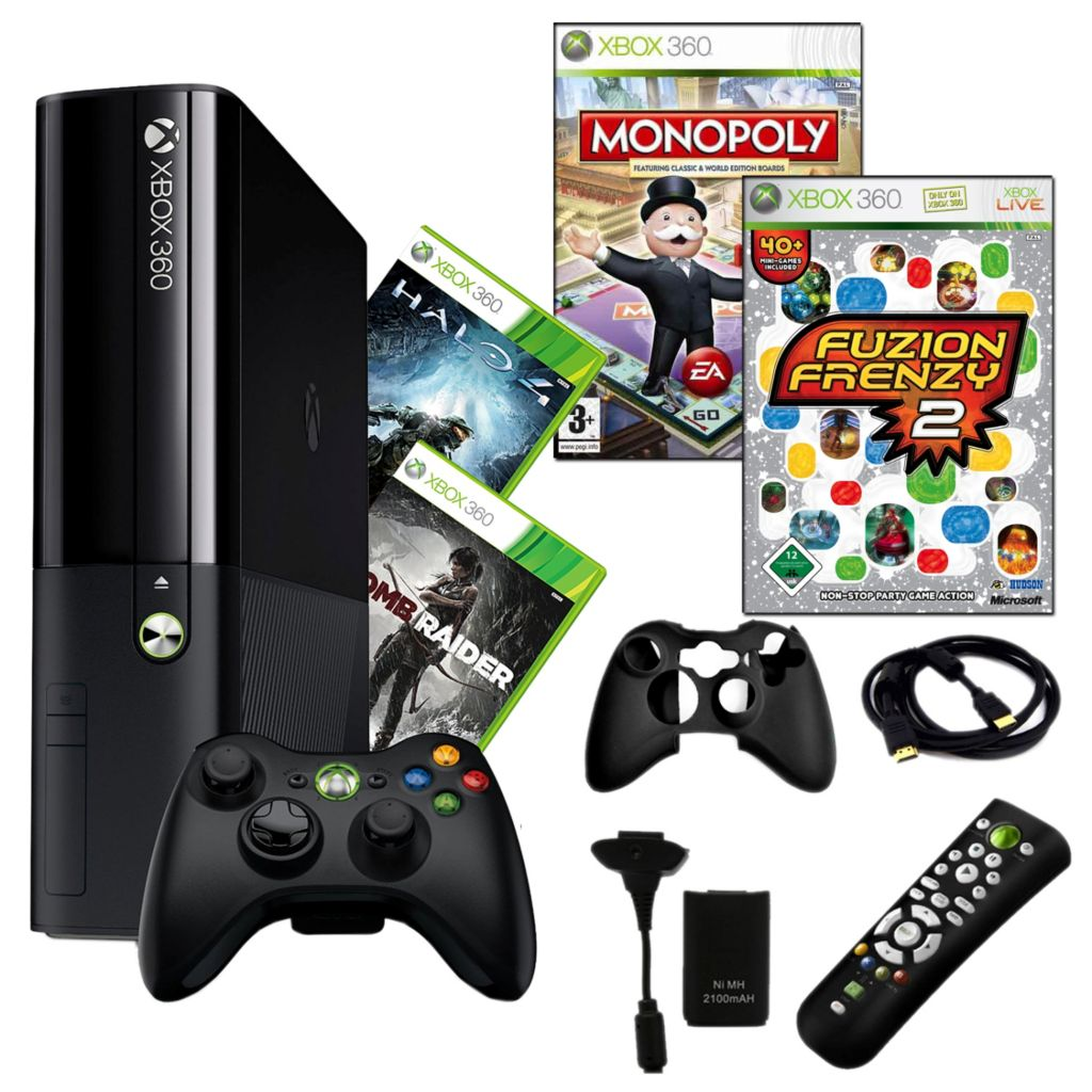 441-189 - Xbox 360 E 250GB Bundle w/ Four Games & Accessories
