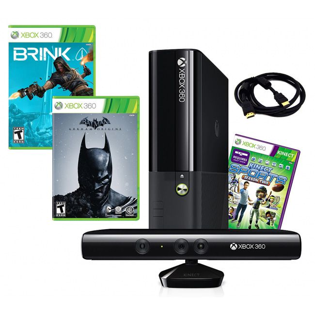 441-190 - Xbox 360 E 4GB Kinect Bundle w/ Three Games & Accessories