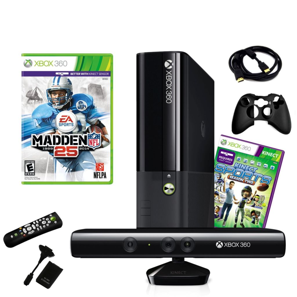 441-191 - Xbox 360 4GB Kinect Bundle w/ Game & Accessories