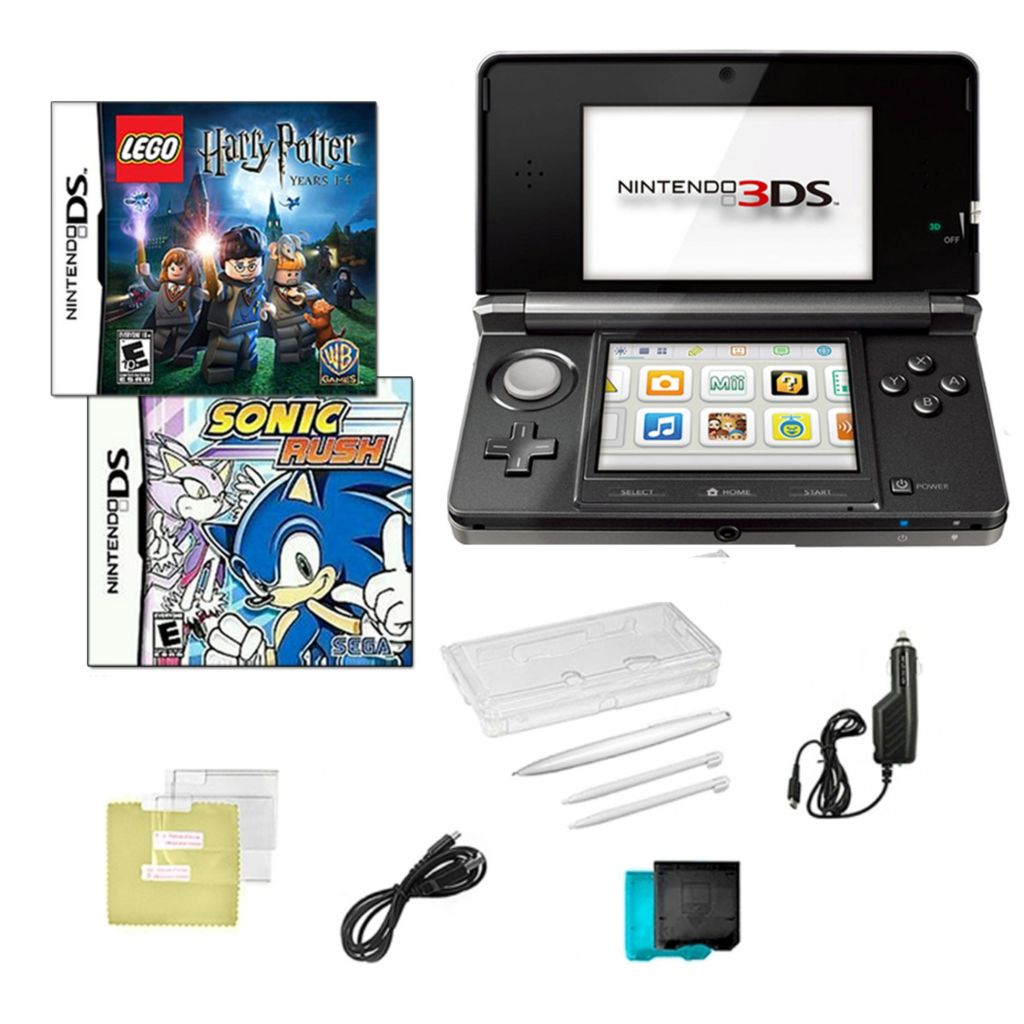 441-204 - Nintendo 3DS Bundle w/ Two Games & Accessories