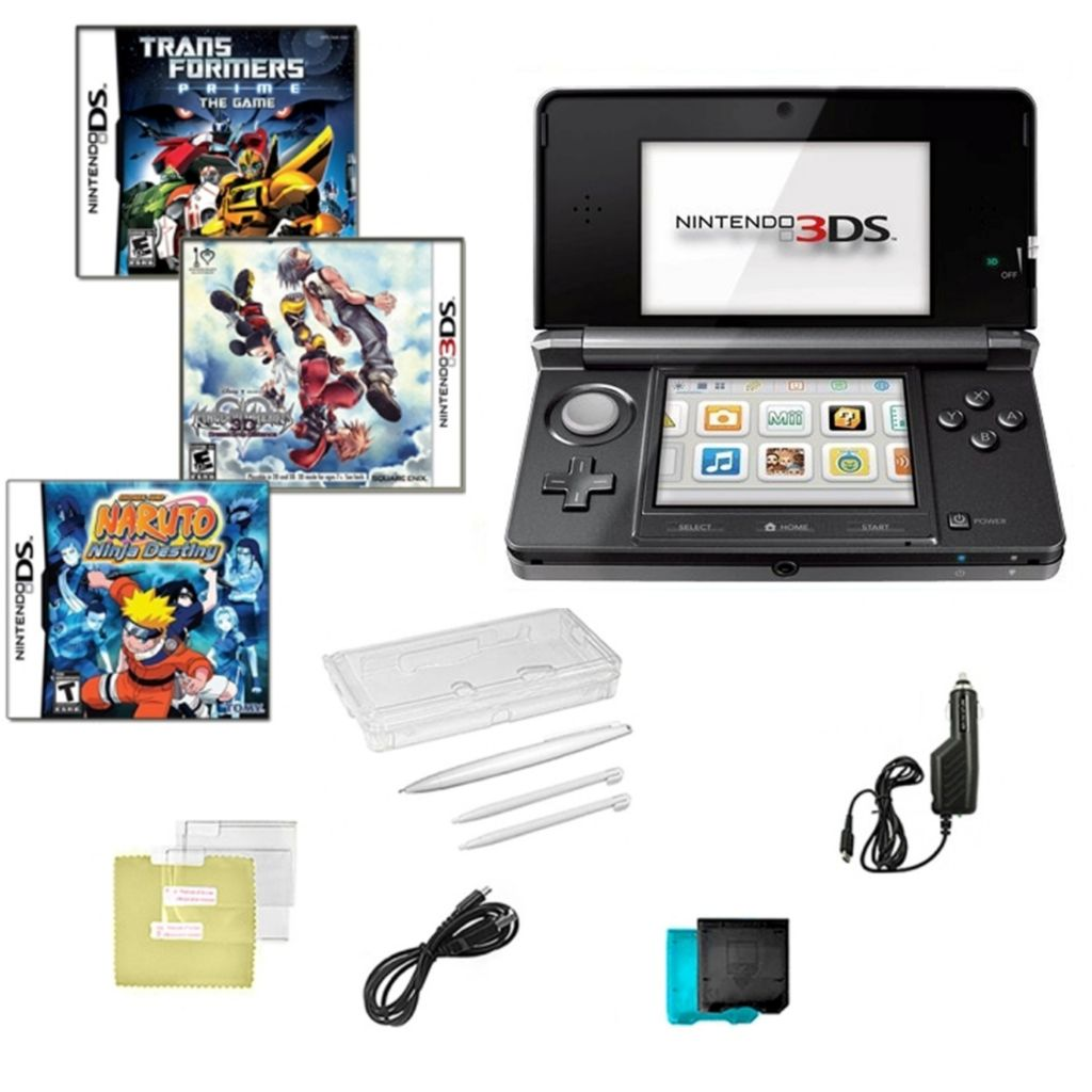 441-205 - Nintendo 3DS Portable Gaming System Bundle w/ Three Games & Accessories