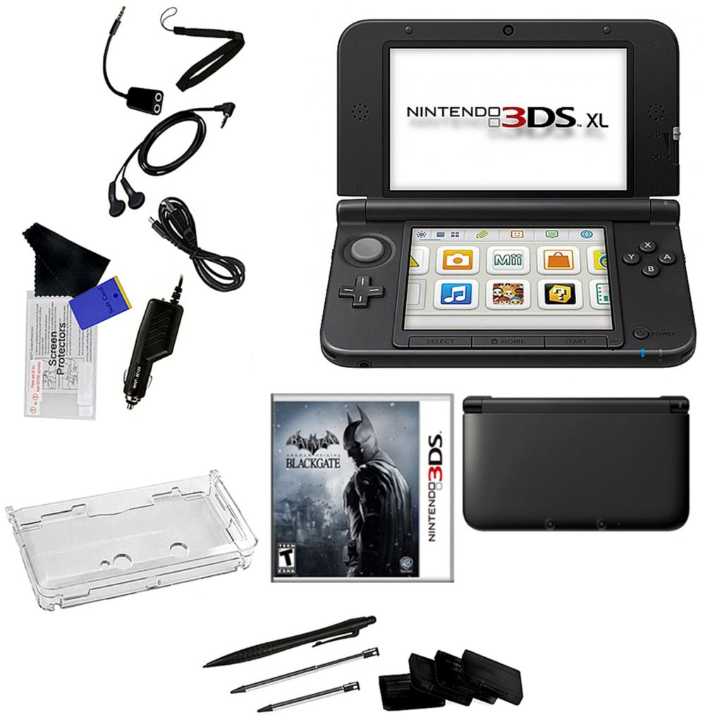 441-208 - Nintendo 3DS XL Bundle w/ Batman Arkham Origins & Accessories