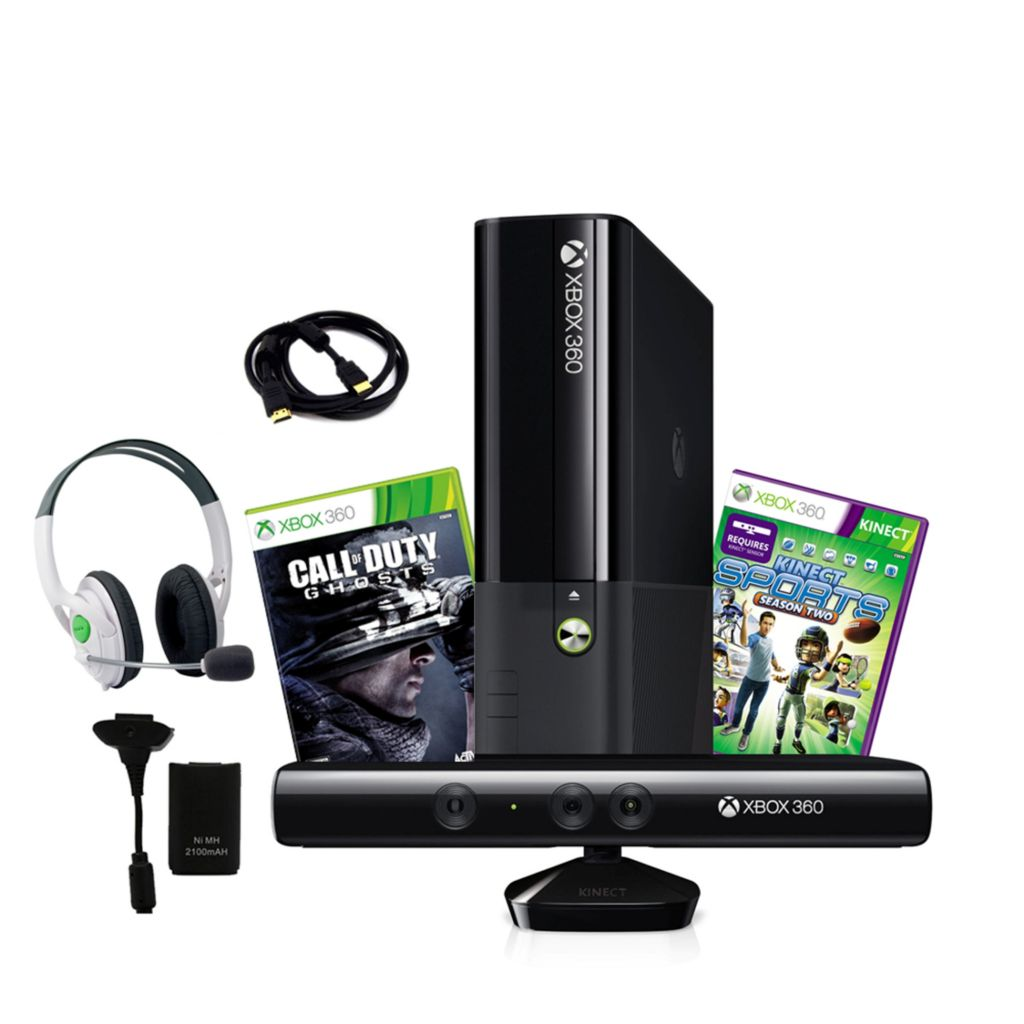 441-210 - XBox 360 4GB Kinect Console w/ Headphones, Plug & Play Charger & HDMI Cable
